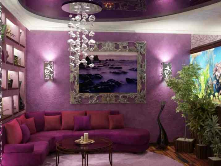 Total Purple Living Room Style