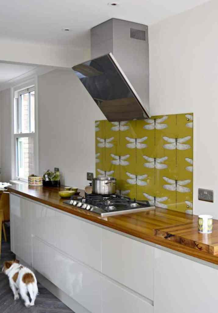 Upgraded Yellow Kitchen Backsplash