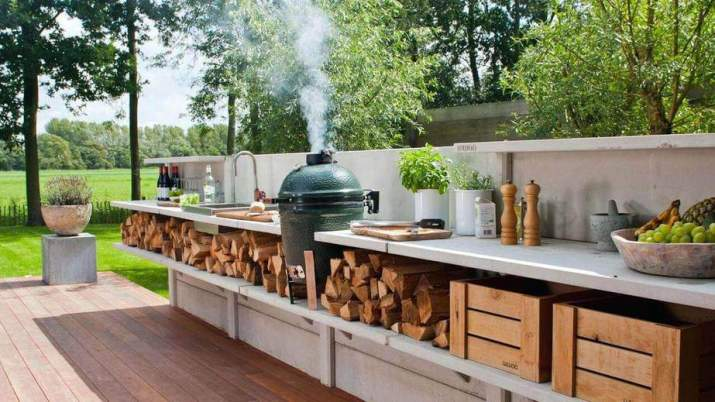 Economical Country Outdoor Kitchen