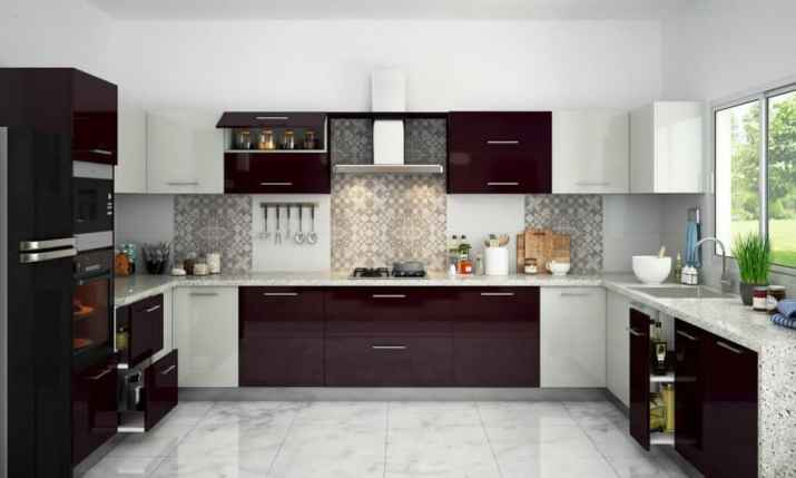 Light Two Toned Kitchen Cabinet
