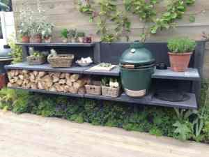 Double Outdoor Kitchen Deck