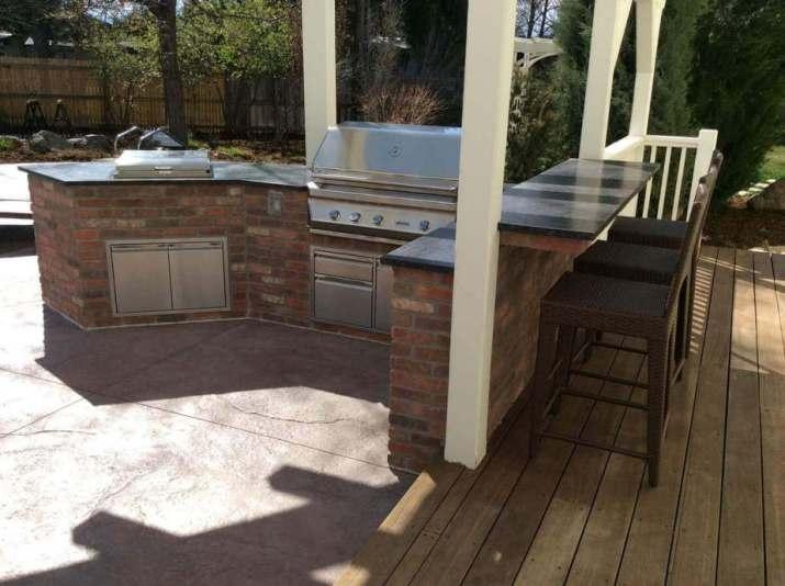 Modern Coffee Bar Outdoor Kitchen Island