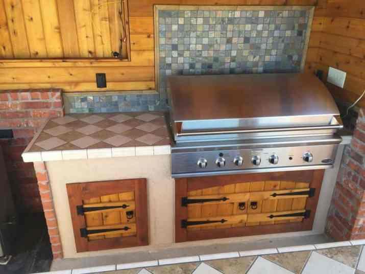 Nice Outdoor Kitchen Deck