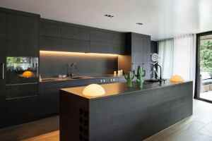 Minimalist Dark Kitchen