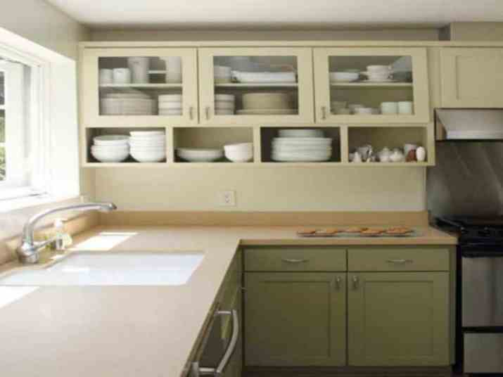 Serene Two Toned Kitchen Cabinet