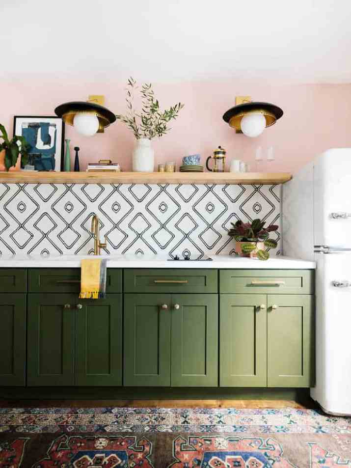 Colorful, Trendy Kitchen