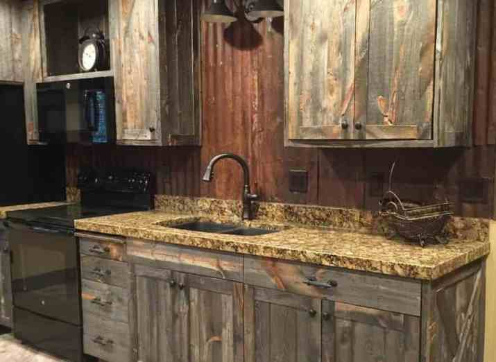 Barn House Rustic Kitchen Cabinet