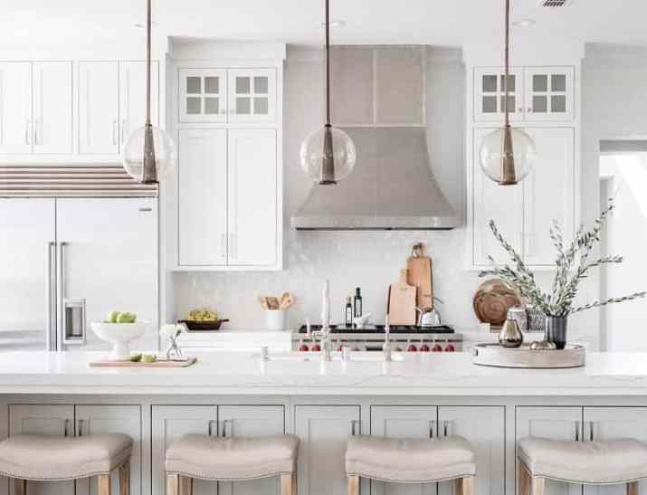 Modern Farmhouse Cabinet with Glossy Countertops