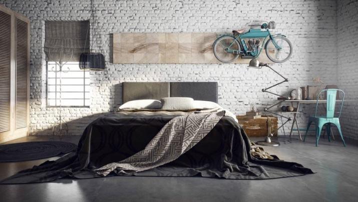 Old Industrial Large Bedroom