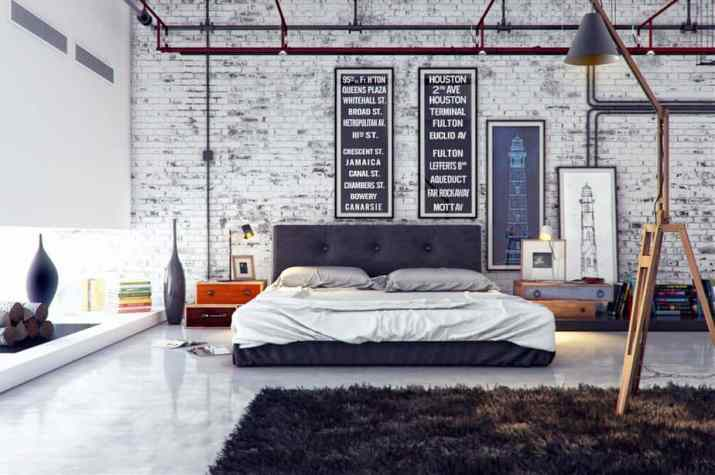 Street Style Bedroom Accent Wall