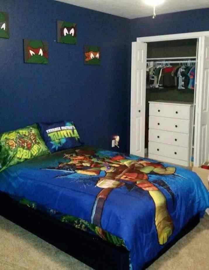 Quiet Ninja Turtles Bedroom
