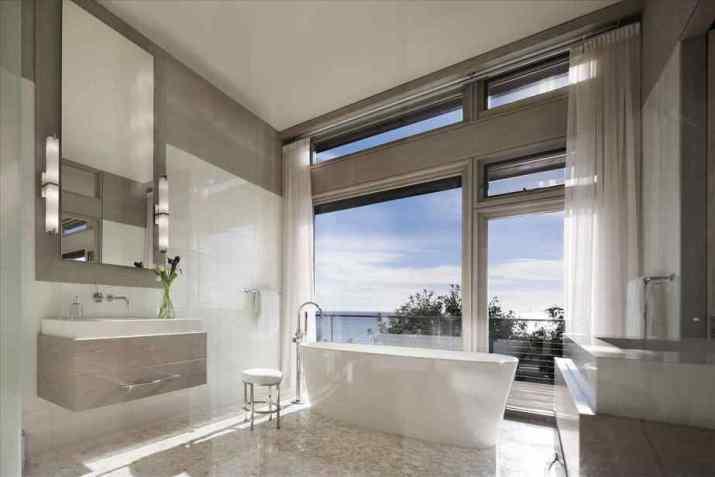 Grey Bathroom with Windowpane