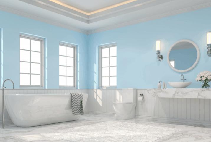 Mild Bathroom Baseboard