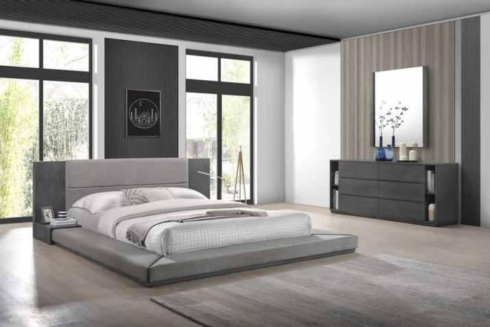 Spacious Grey Bedroom