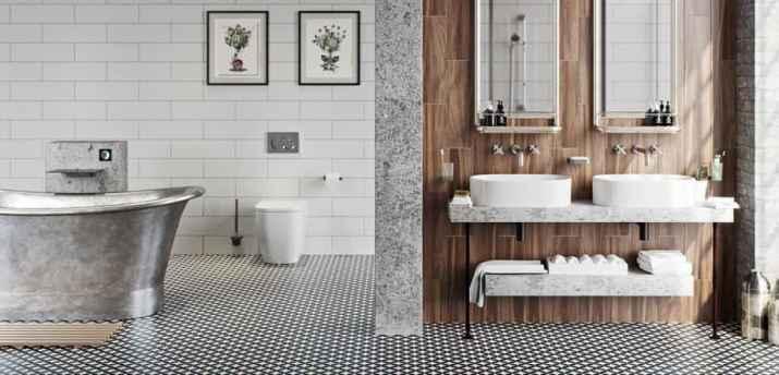Light Bathroom Baseboard