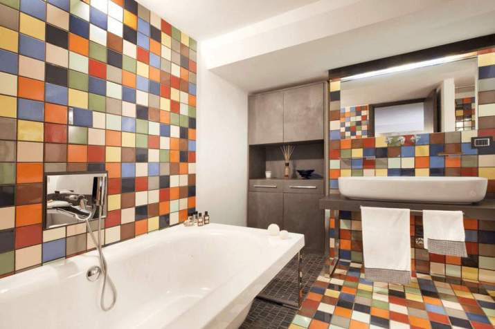 Energetic Colorful Bathroom