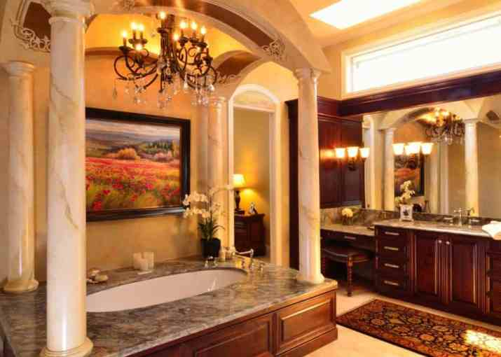 Beautiful Ceiling Style for Tuscan Bathroom