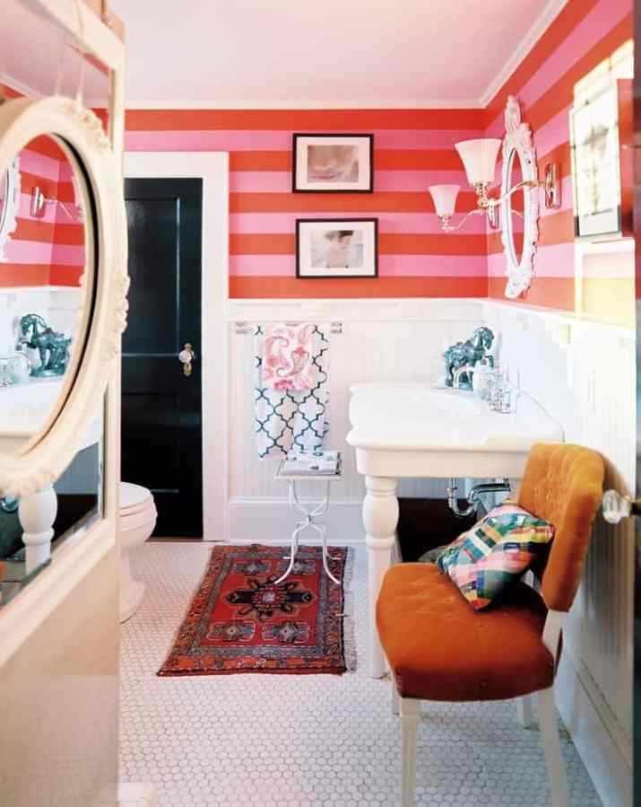 Fancy Colorful Bathroom