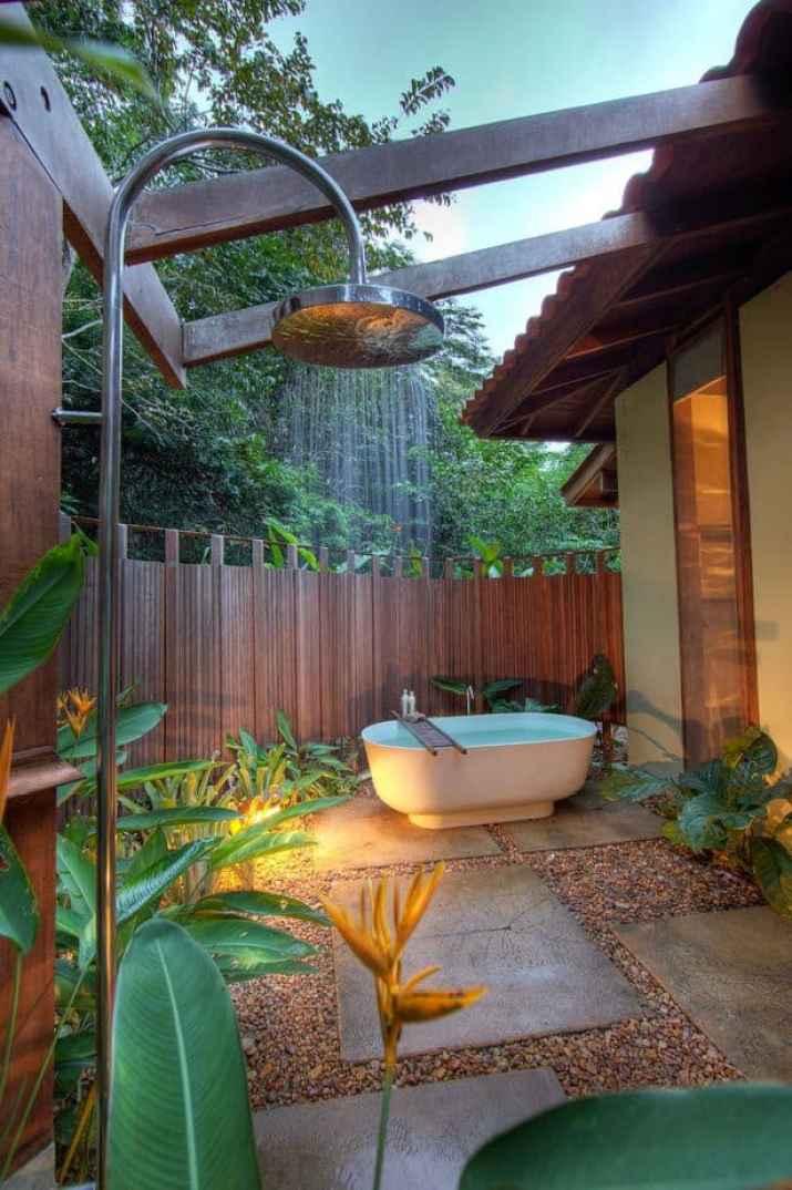 Outdoor Zen Bathroom