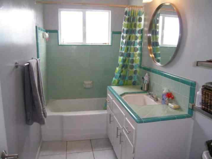 Polka dot Curtain for Sunken Bath Tub
