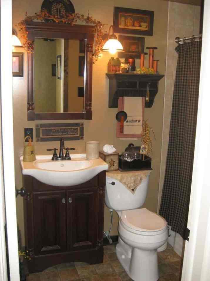 Plaid Curtain for Primitive Bathroom