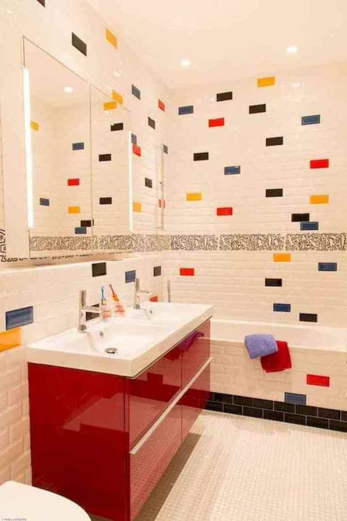 Smart Colorful Bathroom