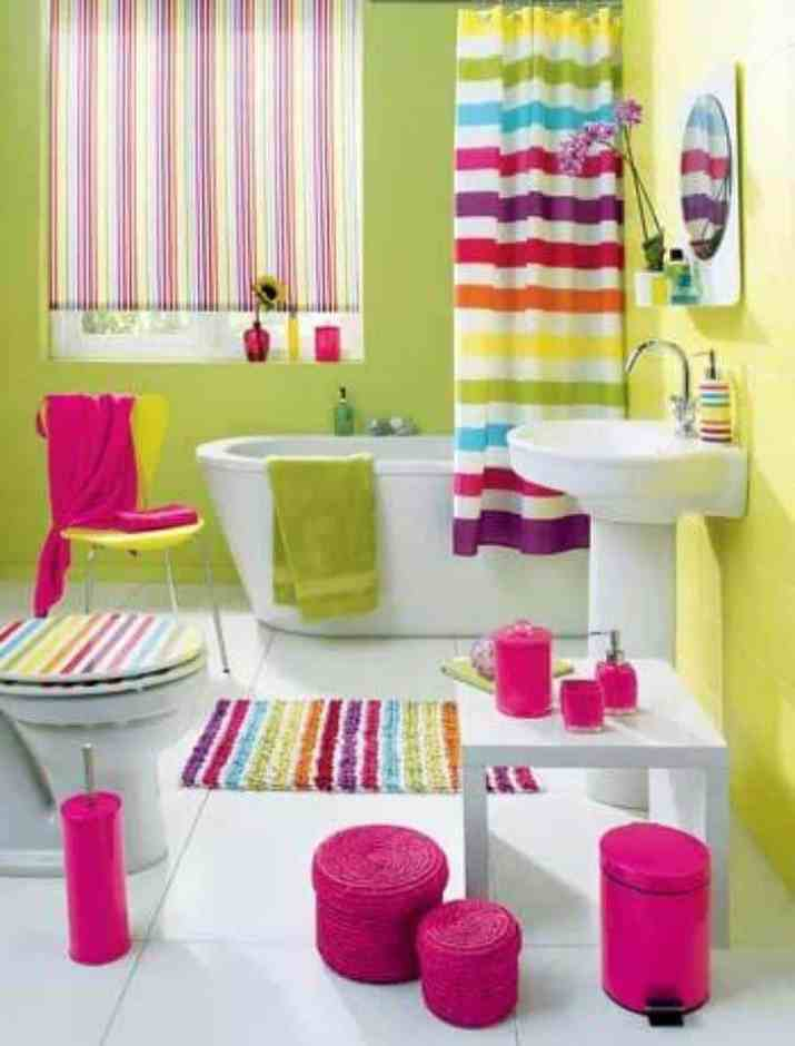 Sugary Colorful Bathroom