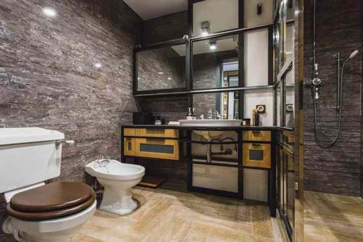 Industrial, Grey Bathroom