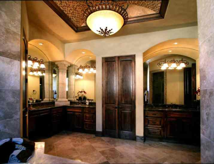 Unbelievable Ceiling for Tuscan Bathroom