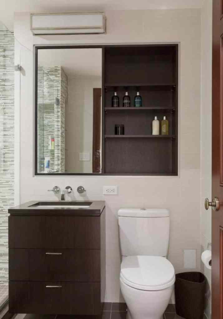 Recessed Rack with Mirror