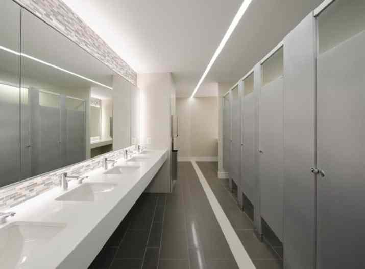 Creative, Grey Office Bathroom