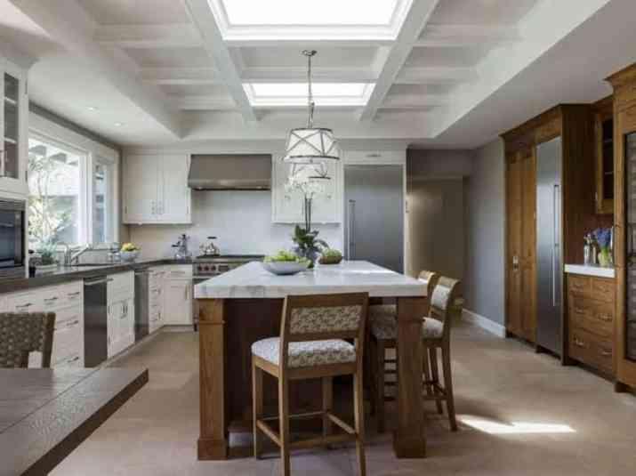 Coffered ceiling kitchen