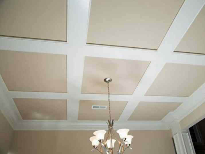 Easy flat coffered ceiling