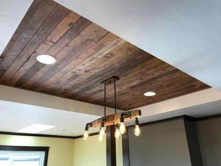 Wood Tray Ceiling Idea