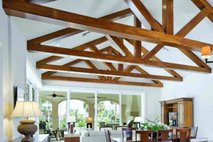 old styledVaulted Ceiling Ideas with Beams