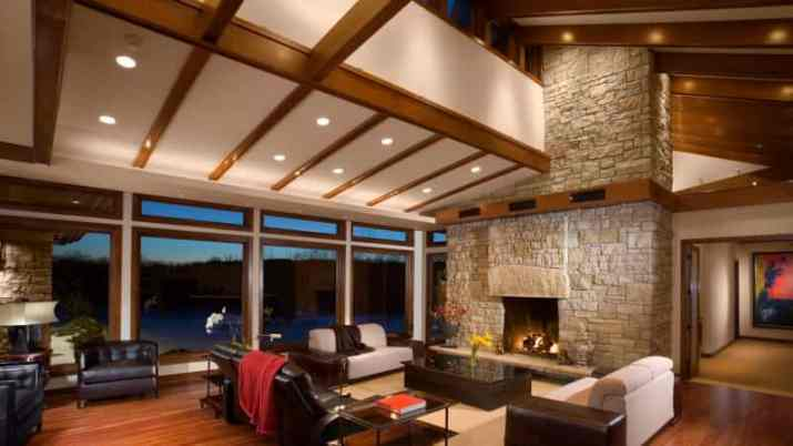 perfect Vaulted Ceiling Ideas with Beams