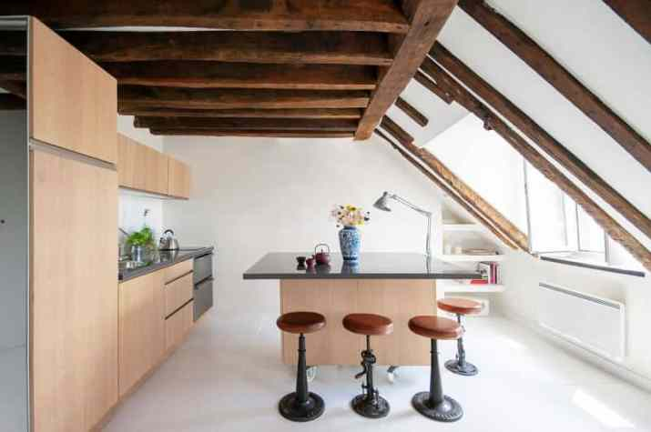Wood Ceiling Ideas for Kitchen in white