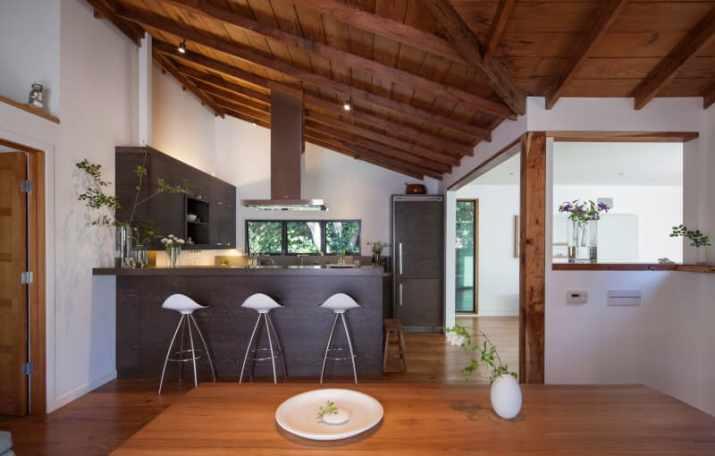 Half Vaulted Ceiling Ideas wooden floor