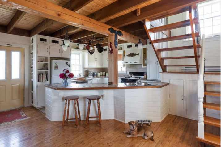 Wood Ceiling Ideas for Kitchen with panel