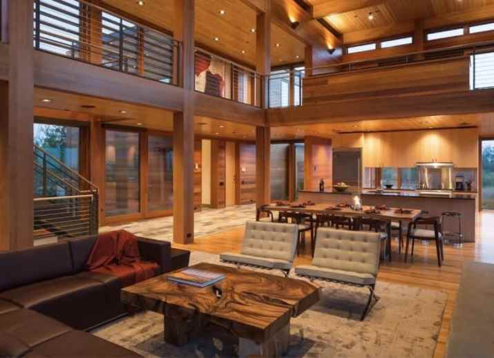 Cabin Wood Ceiling Ideas with ornaments
