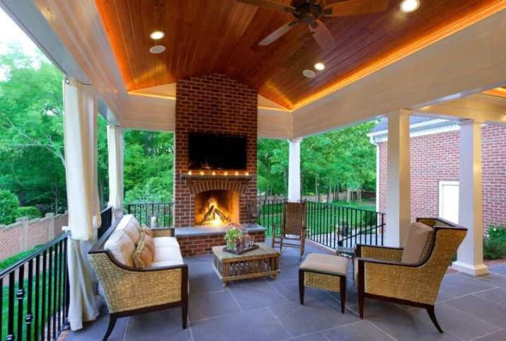 Outdoor Wood Ceiling Ideas with natural feeling
