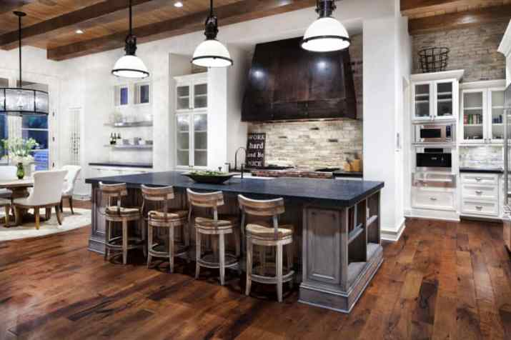 Wood Ceiling Ideas for Kitchen with rustic style