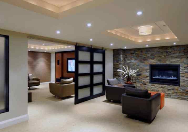 modern Modern Basement Ceiling Ideas