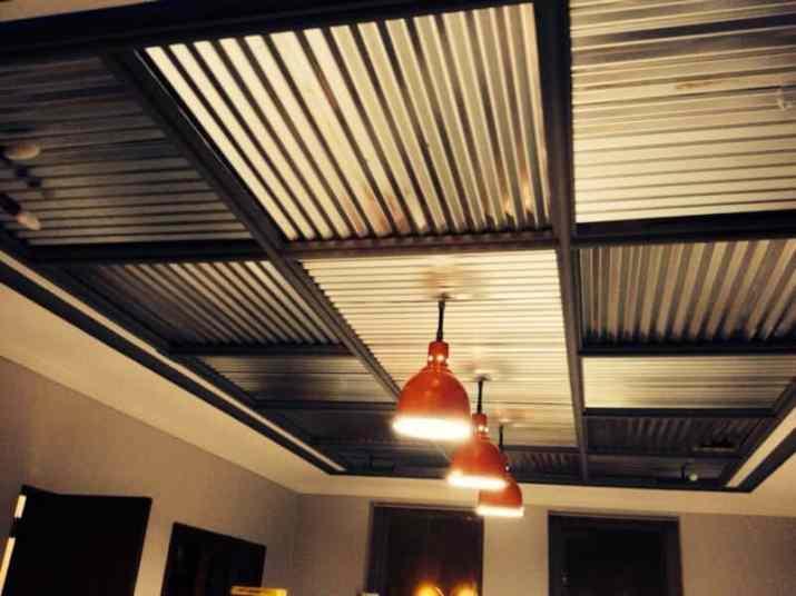 metal Metal Basement Ceiling Ideas