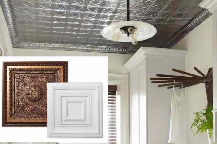 modern Basement Ceiling Ideas in white