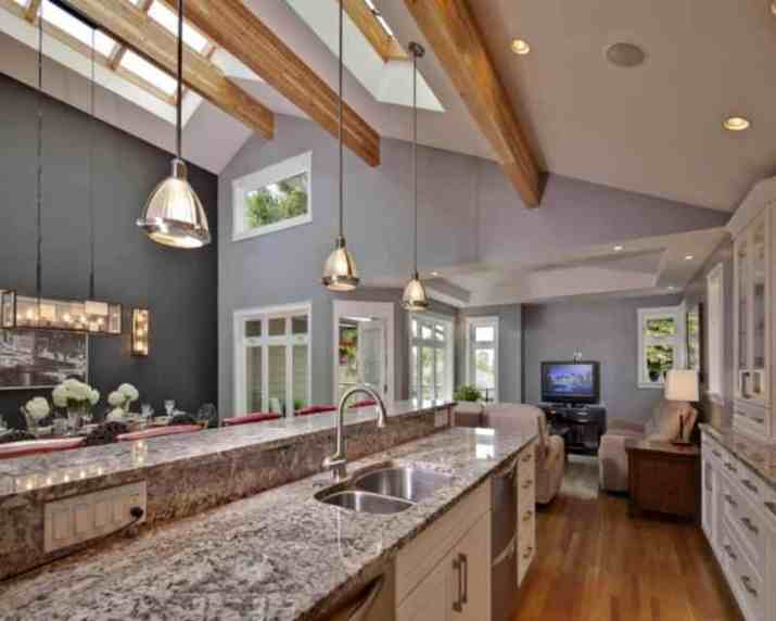 famous Vaulted Ceiling Kitchen Ideas