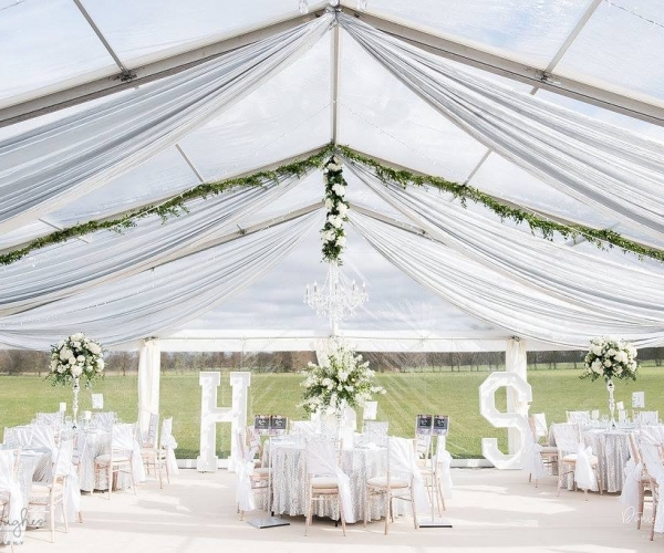Marquee styling, Wedding flowers in derby