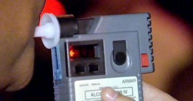 etilômetro sendo utilizado