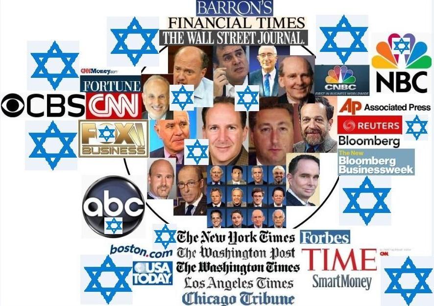 Resultado de imagen para control de los medios judios