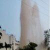 Water pipeline bursts at chandivali